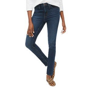 J Crew Stretch Women Size 28 Dark Wash Mid Rise Straight Leg Denim Jeans